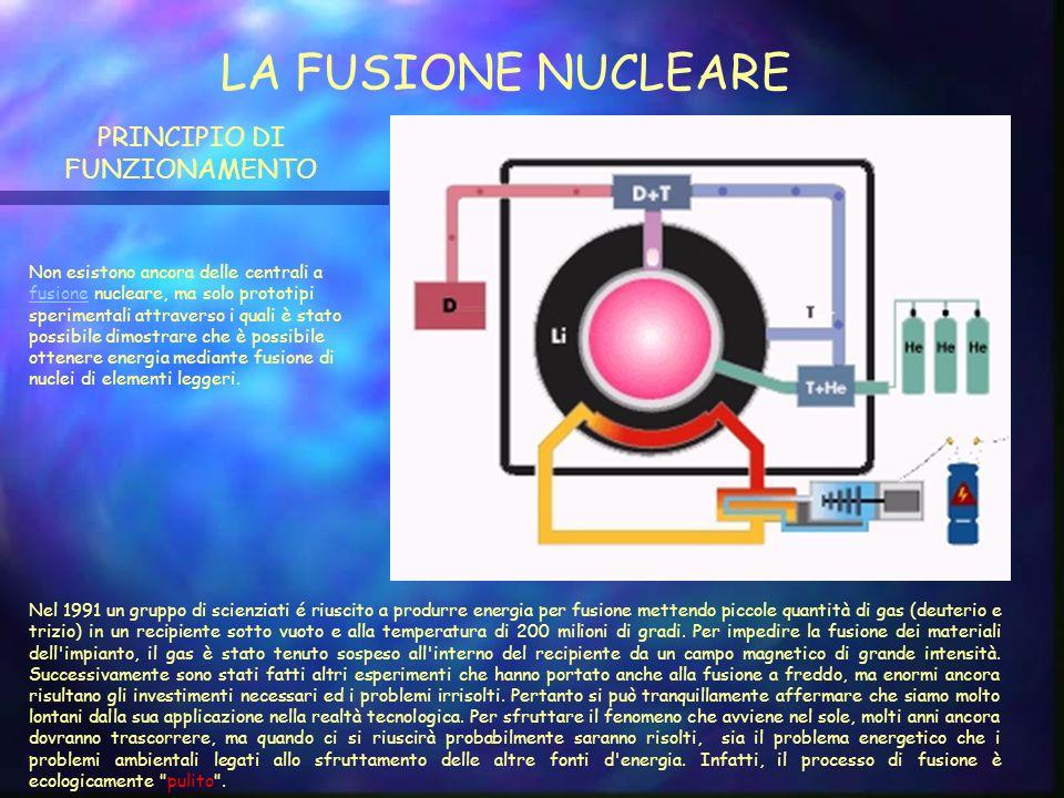 CENTRALE NUCLEARE LA FISSIONE NUCLEARE Una centrale nucleare brucia Uranio e produce energia Elettrica, ma a differenza di una normale centrale termoelettrica, che brucia carbone, petrolio o gas, non sfrutta reazioni chimiche, ma reazioni di fissione, circa un milione di volte più energetiche a parità di massa di combustibile.