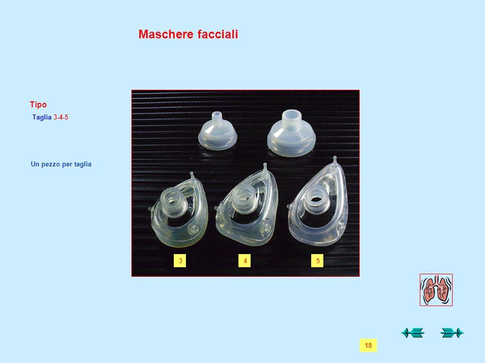 Maschere facciali Tipo Taglia 3-4-5 1 345 Un pezzo per taglia 18