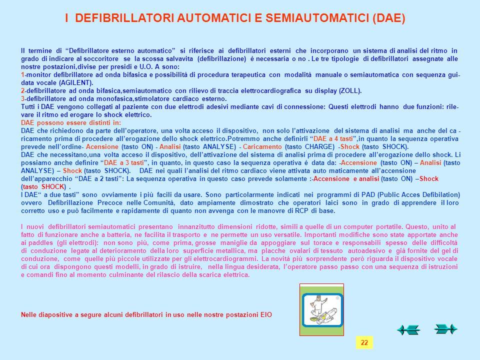 """Il termine di """"Defibrillatore esterno automatico"""" si riferisce ai defibrillatori esterni che incorporano un sistema di analisi del ritmo in grado di i"""