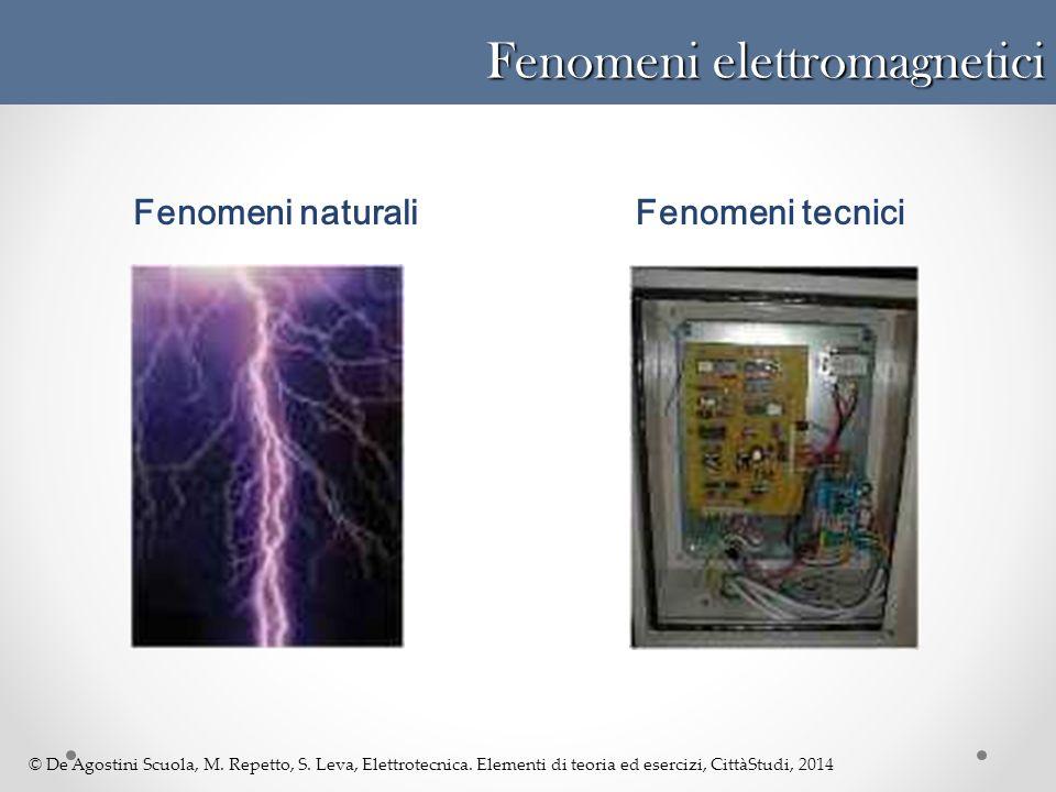 © De Agostini Scuola, M. Repetto, S. Leva, Elettrotecnica. Elementi di teoria ed esercizi, CittàStudi, 2014 Fenomeni tecniciFenomeni naturali Fenomeni