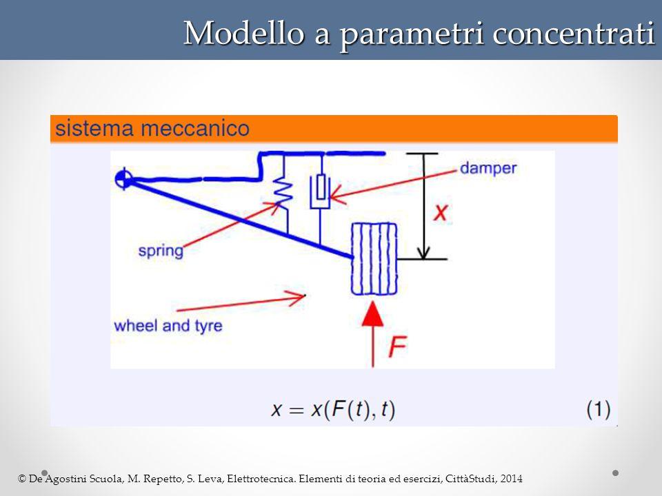 © De Agostini Scuola, M. Repetto, S. Leva, Elettrotecnica. Elementi di teoria ed esercizi, CittàStudi, 2014 Modello a parametri concentrati
