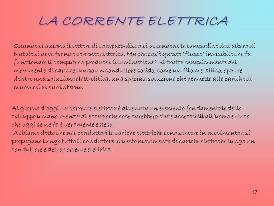 Al giorno d'oggi, la corrente elettrica è divenuta un elemento fondamentale dello sviluppo umano. Senza di essa poche cose sarebbero state accessibili