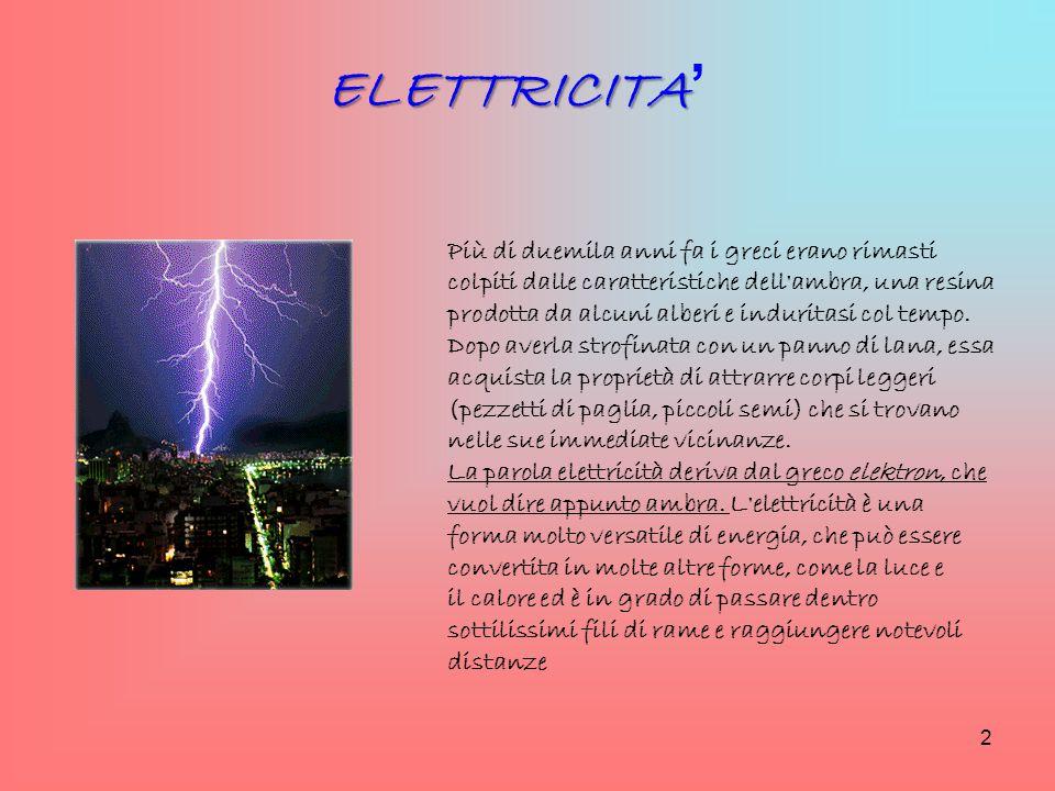 Ogni materiale ha un comportamento specifico nei confronti dell'elettricità.