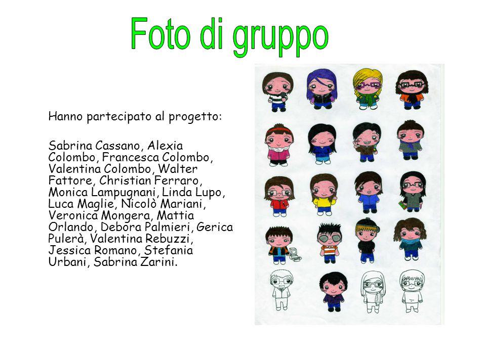Hanno partecipato al progetto: Sabrina Cassano, Alexia Colombo, Francesca Colombo, Valentina Colombo, Walter Fattore, Christian Ferraro, Monica Lampug