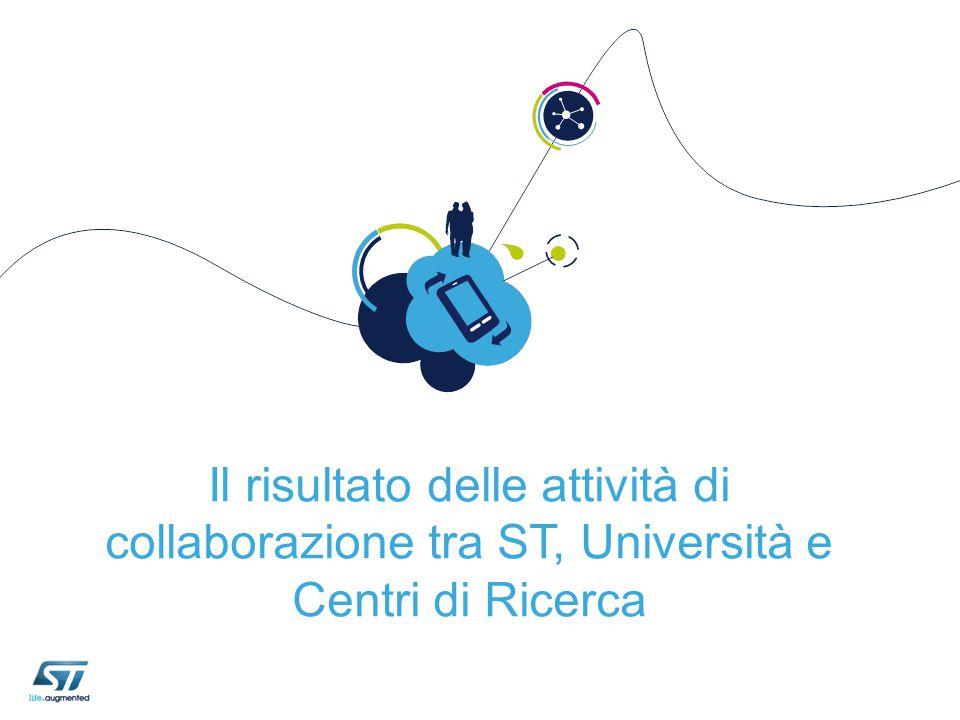 Il risultato delle attività di collaborazione tra ST, Università e Centri di Ricerca