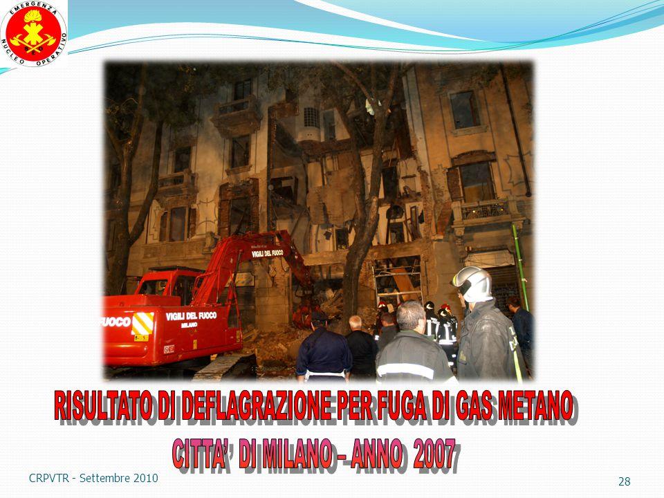 27 ATTENZIONE AI PERICOLI DI DEFLAGRAZIONE E' proibito il posteggio di veicoli a G P L in ambienti chiusi e si deve usare molta cautela nello stoccaggio delle bombole CRPVTR - Settembre 2010