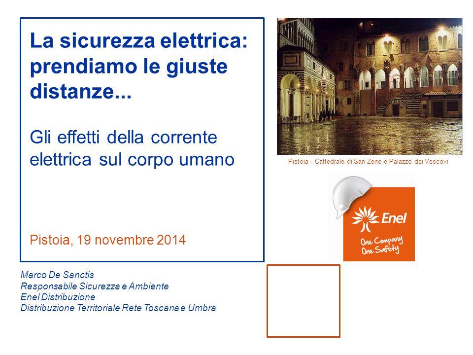 Pistoia, 19 novembre 2014 La sicurezza elettrica: prendiamo le giuste distanze... Gli effetti della corrente elettrica sul corpo umano Marco De Sancti