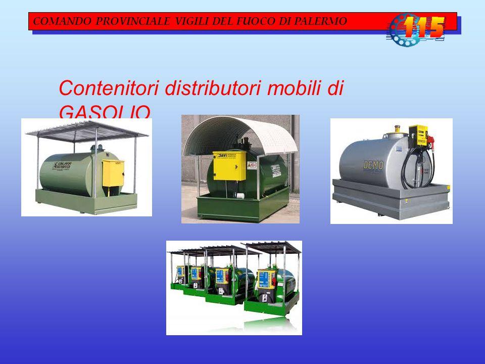 COMANDO PROVINCIALE VIGILI DEL FUOCO DI PALERMO Contenitori distributori mobili di GASOLIO