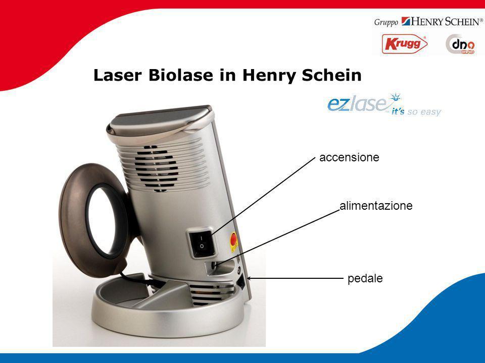 Laser Biolase in Henry Schein pedale accensione alimentazione
