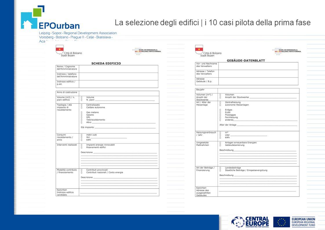 OUTPUTS WP4.1 Consulting conceptualisation   il processo di consulenza IL CANTIERE DI EPOurban E' stato stabilito un comitato locale di controllo e di indirizzo, coordinato e presieduto dal Comune di Bolzano, (assessore Pasquali e Trincanato), in cui tutti gli stakeholders coinvolti nei precedenti step 3.1 e 3.2 prendano parte al progetto con la finalità di supportare e orientare l'attività di consulenza del pool.