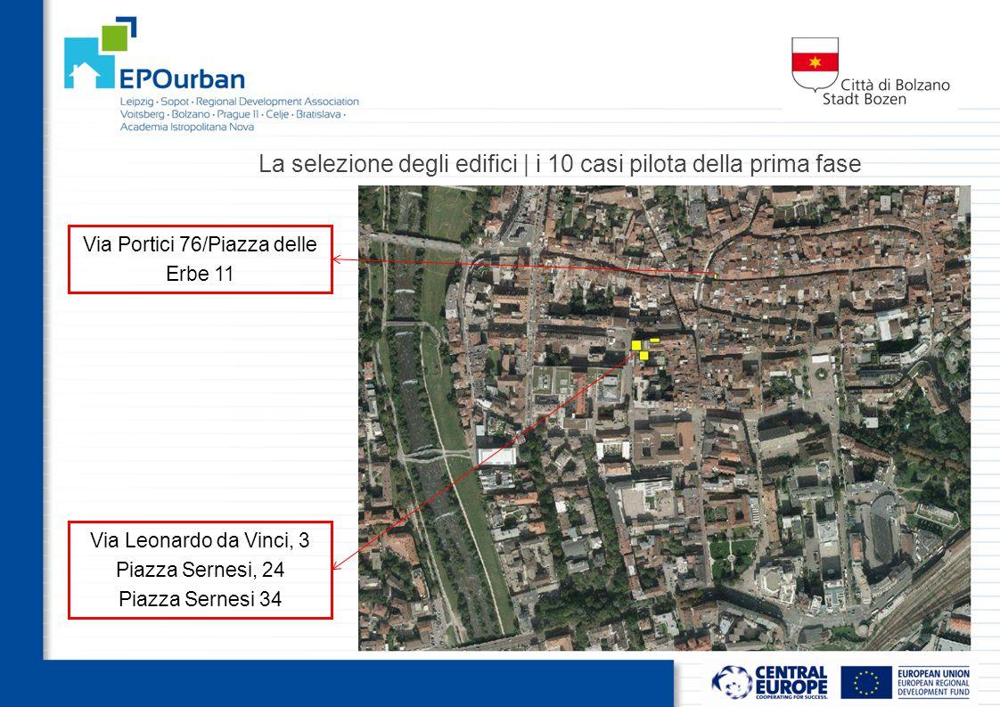 Via Leonardo da Vinci, 3 Piazza Sernesi, 24 Piazza Sernesi 34 Via Portici 76/Piazza delle Erbe 11