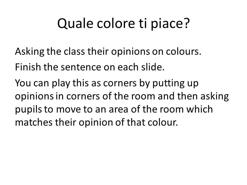 Colpisci il colore sul tavolo!