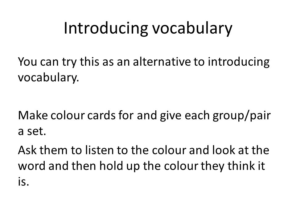 Portami… For this activity, put pupils into rainbow groups by giving each pupil a card which is either blue, red, green or yellow and asking them to form a group with 4 colours.