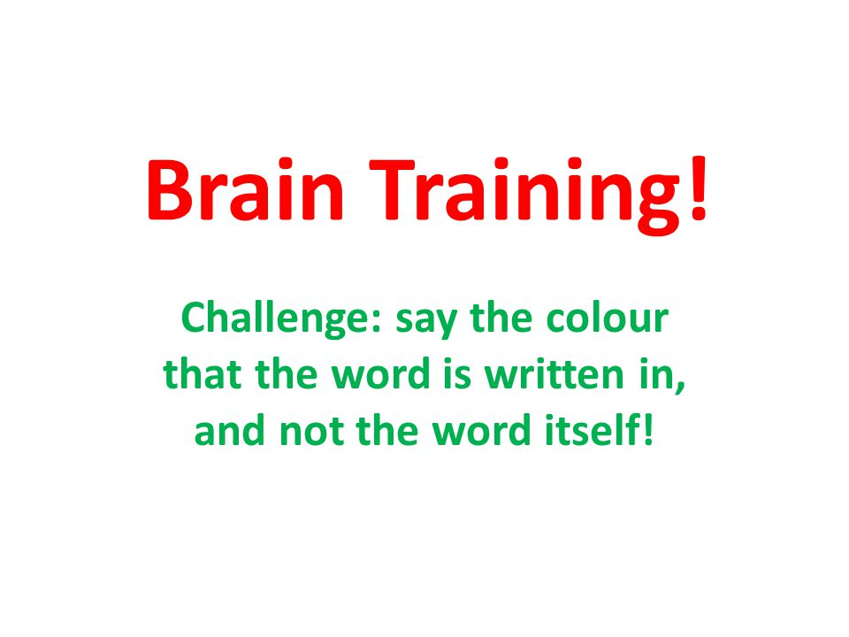 Brain Training – I colori