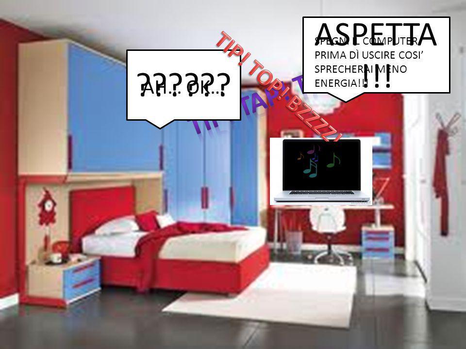 ASPETTA !!! ?????? SPEGNI IL COMPUTER PRIMA DÌ USCIRE COSI' SPRECHERAI MENO ENERGIA!!! AH… OK…