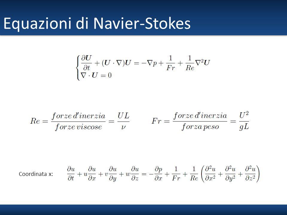 Equazioni di Navier-Stokes Coordinata x: