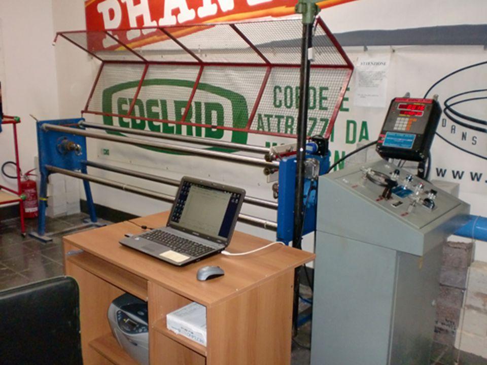 Anche nel laboratorio del CRASC si possono ottenere curve Forza/allungamento Ma anche su campioni di notevole lunghezza