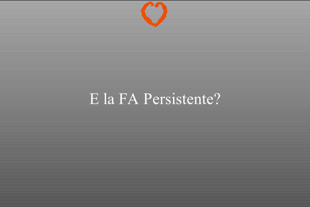 E la FA Persistente