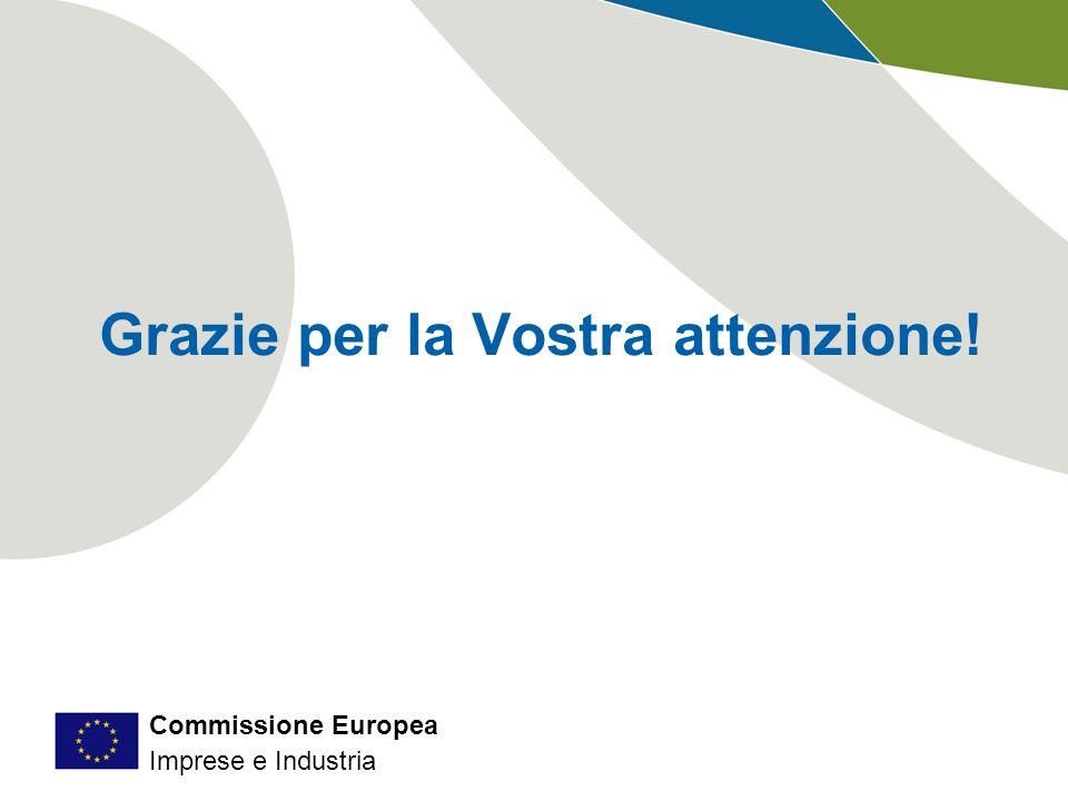 Commissione Europea Imprese e Industria Grazie per la Vostra attenzione!