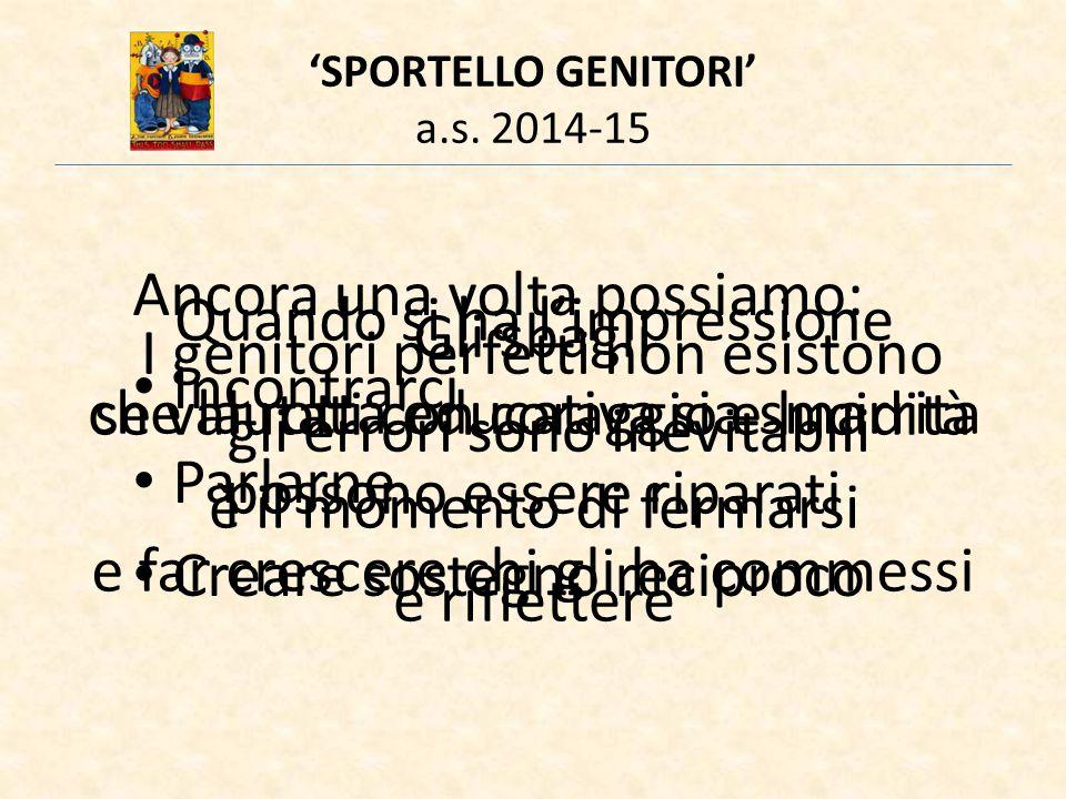'SPORTELLO GENITORI' a.s.