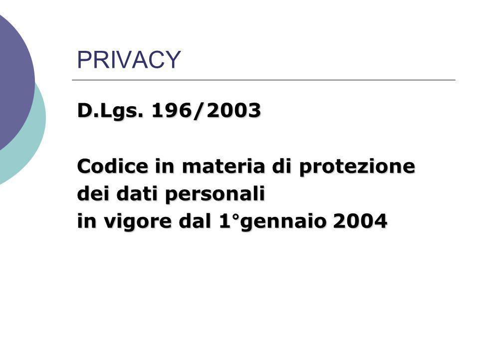 PRIVACY D.Lgs.