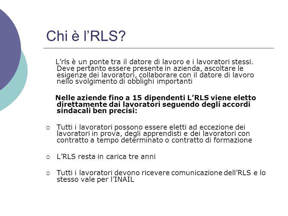 Chi è l'RLS.L'rls è un ponte tra il datore di lavoro e i lavoratori stessi.