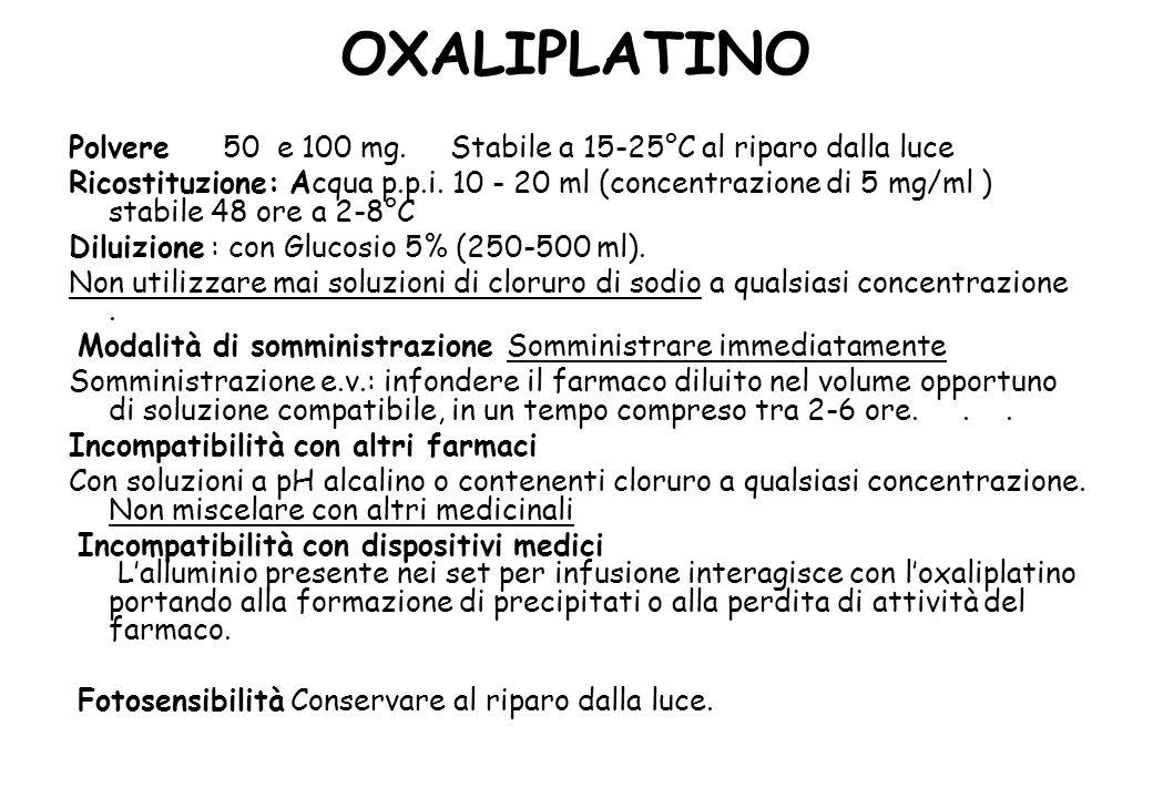 OXALIPLATINO Polvere 50 e 100 mg.