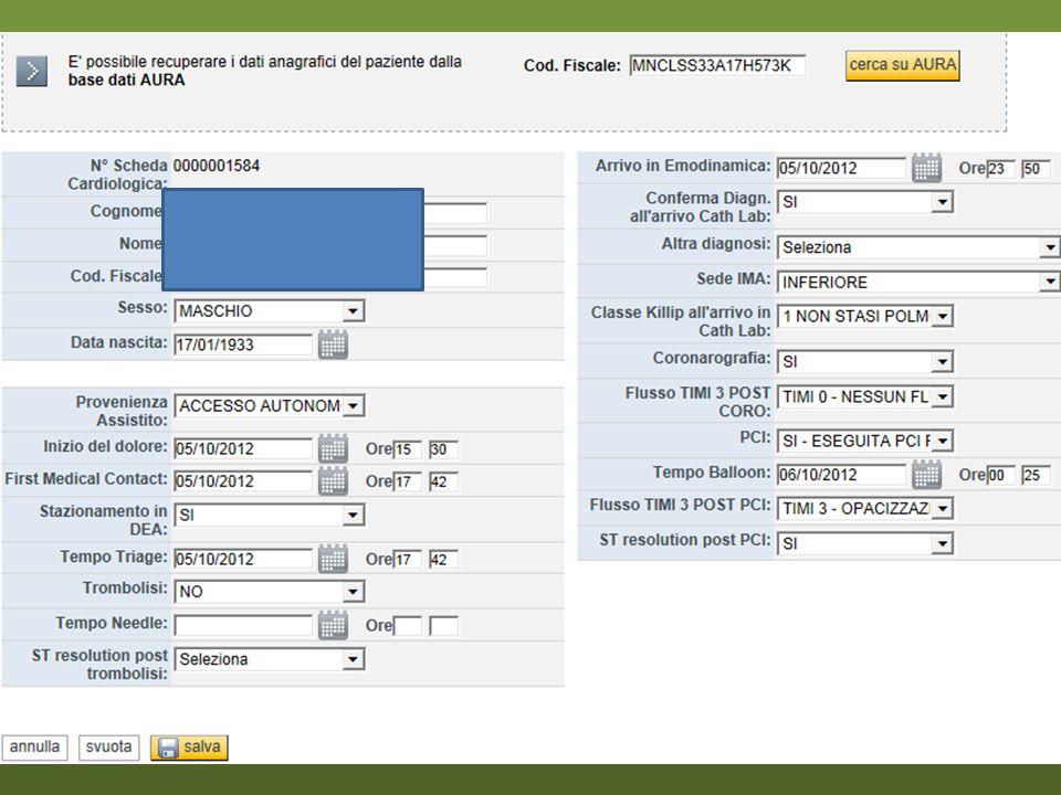 Paziente di 74 anni, maschio STEMI inferiore, trombolisato alle 02:45 (Metalyse, ASA, eparina) Ripresa di dolore e ST sopra ore 04:00  PCI Rescue Tempo balloon ore 06:25.