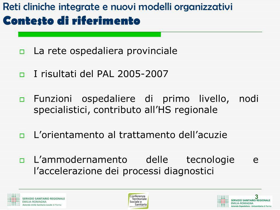 Val Parma Langhirano Ospedale S.Maria Borgotaro Villa Igea Salso Ospedale Fidenza- S.Sec.