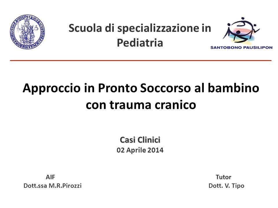 Casi Clinici 02 Aprile 2014 AIF Tutor AIF Tutor Dott.ssa M.R.Pirozzi Dott.
