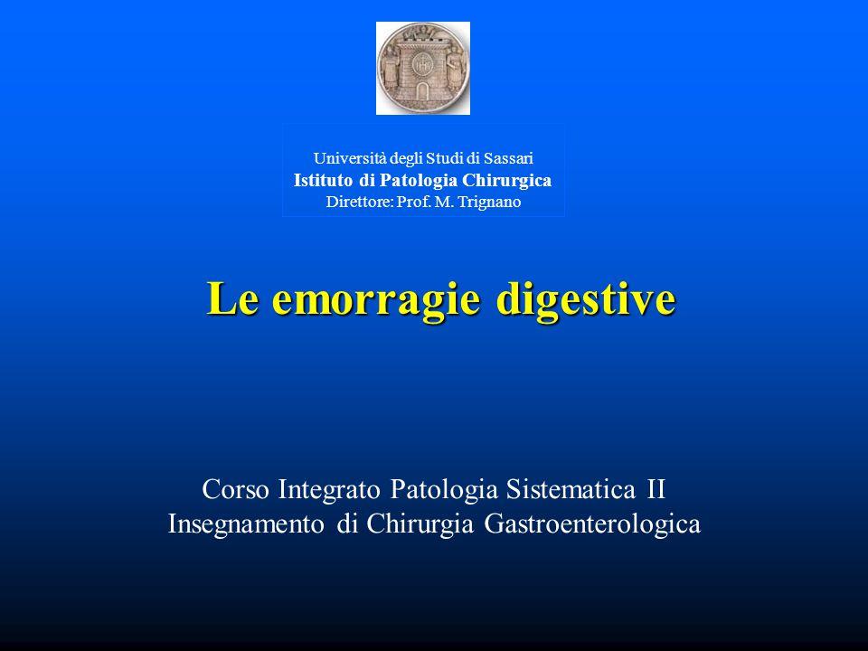 Università degli Studi di Sassari Istituto di Patologia Chirurgica Direttore: Prof.