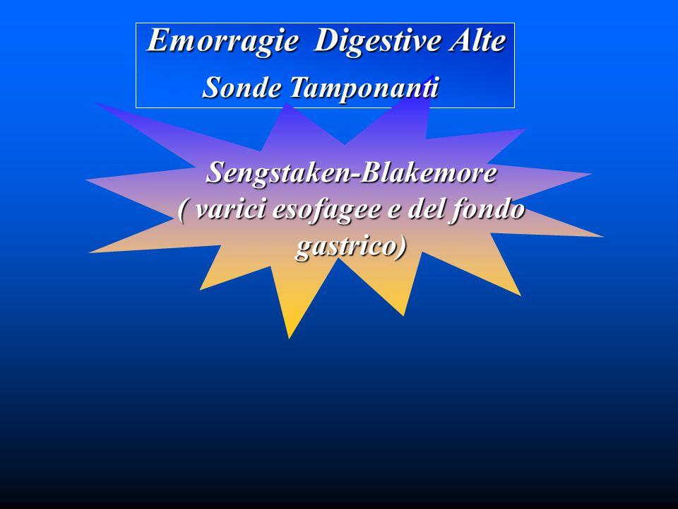 Emorragie Digestive Alte Sonde Tamponanti Sengstaken-Blakemore ( varici esofagee e del fondo gastrico)