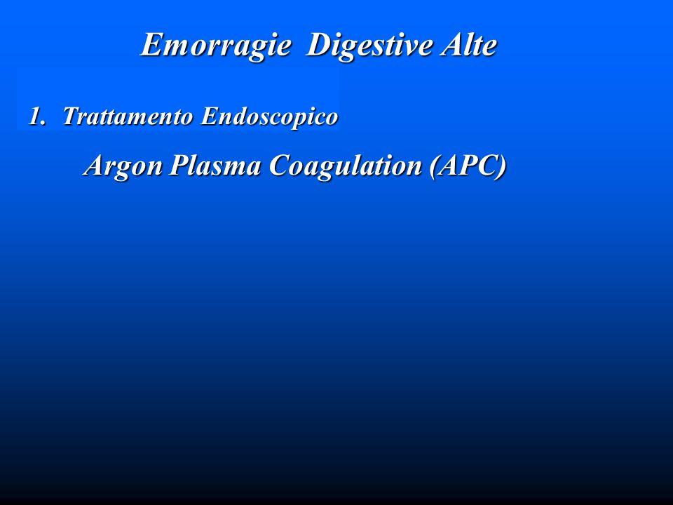 Emorragie Digestive Alte 1.Trattamento Endoscopico Argon Plasma Coagulation (APC)