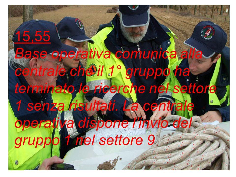 15,55 Parte il 3° gruppo di volontari per le ricerche nel settore 4 formato da: Dal Chiele caposquadra, Milano e Pipistrelli