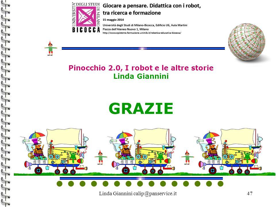 Linda Giannini calip@panservice.it47 Pinocchio 2.0, I robot e le altre storie Linda Giannini GRAZIE