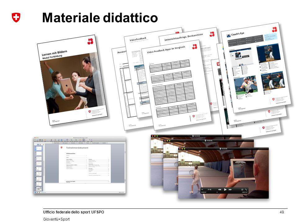 49 Ufficio federale dello sport UFSPO Gioventù+Sport Materiale didattico
