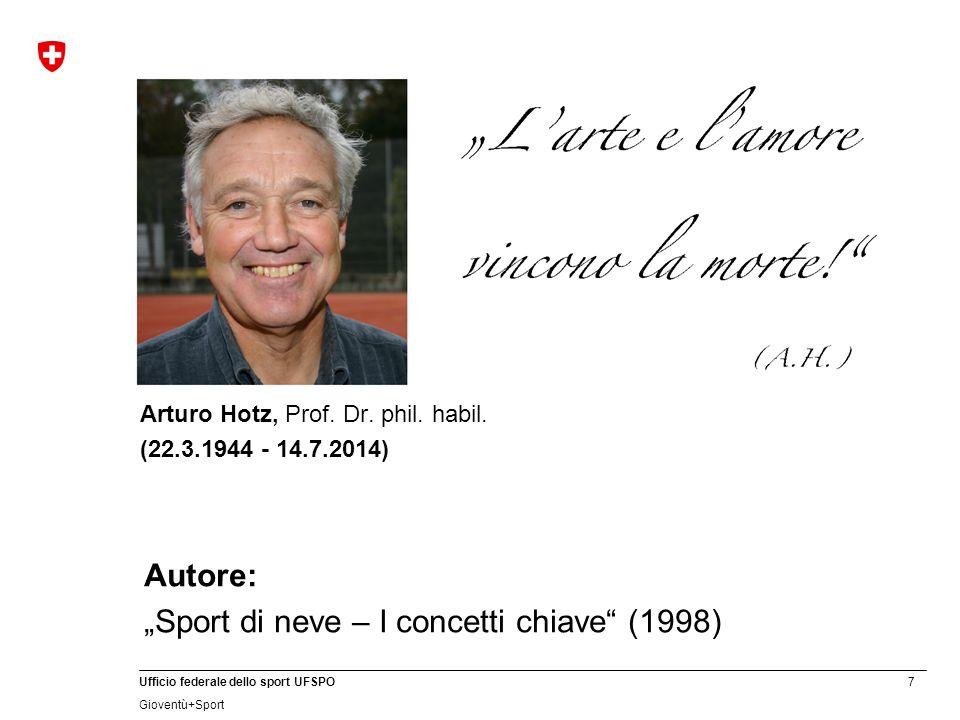 7 Ufficio federale dello sport UFSPO Gioventù+Sport Arturo Hotz, Prof.