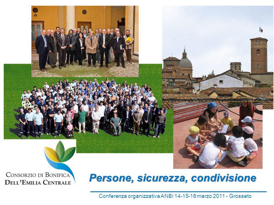 Persone, sicurezza, condivisione Conferenza organizzativa ANBI 14-15-16 marzo 2011 - Grosseto