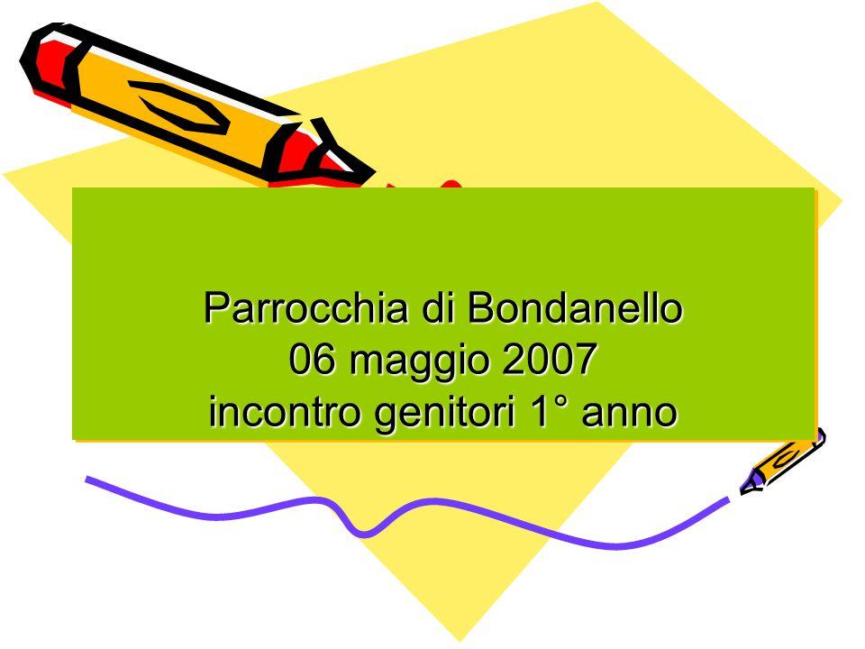 Parrocchia di Bondanello 06 maggio 2007 incontro genitori 1° anno