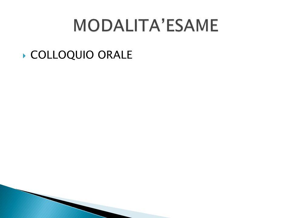  COLLOQUIO ORALE