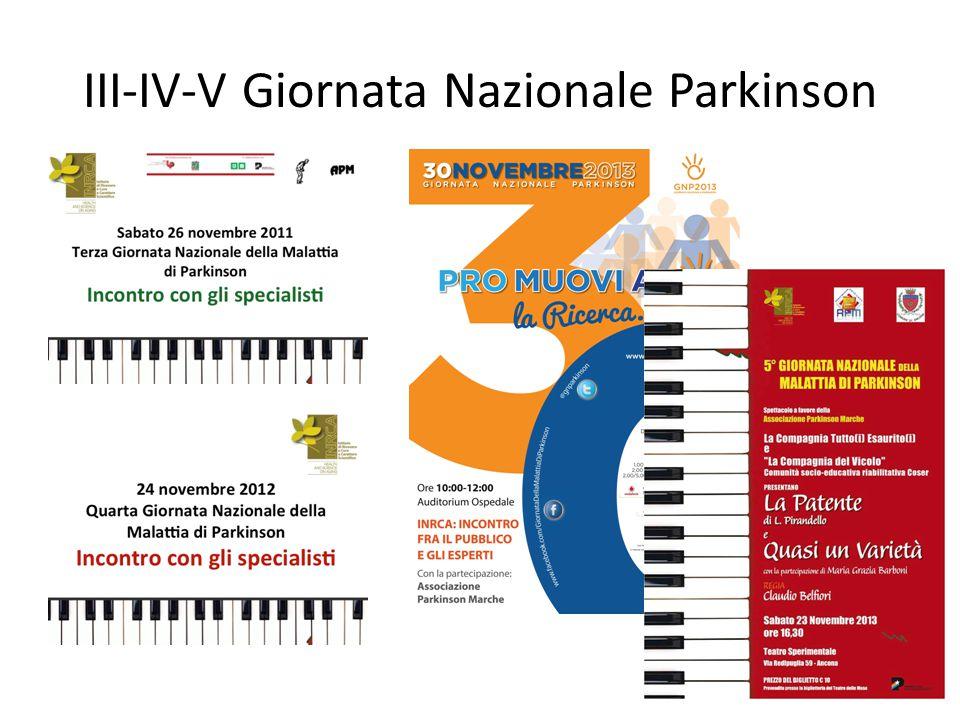 III-IV-V Giornata Nazionale Parkinson