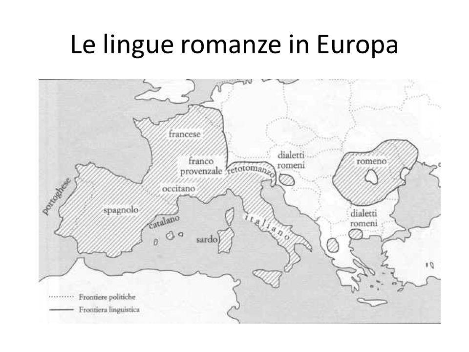 Le lingue romanze in Europa