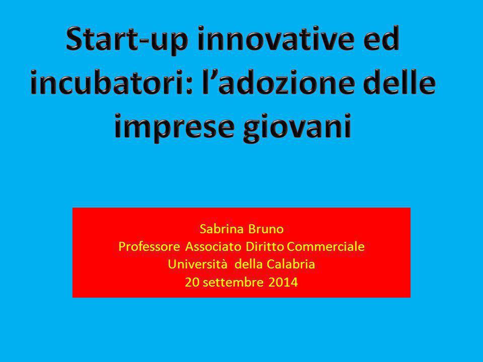 Sabrina Bruno Professore Associato Diritto Commerciale Università della Calabria 20 settembre 2014