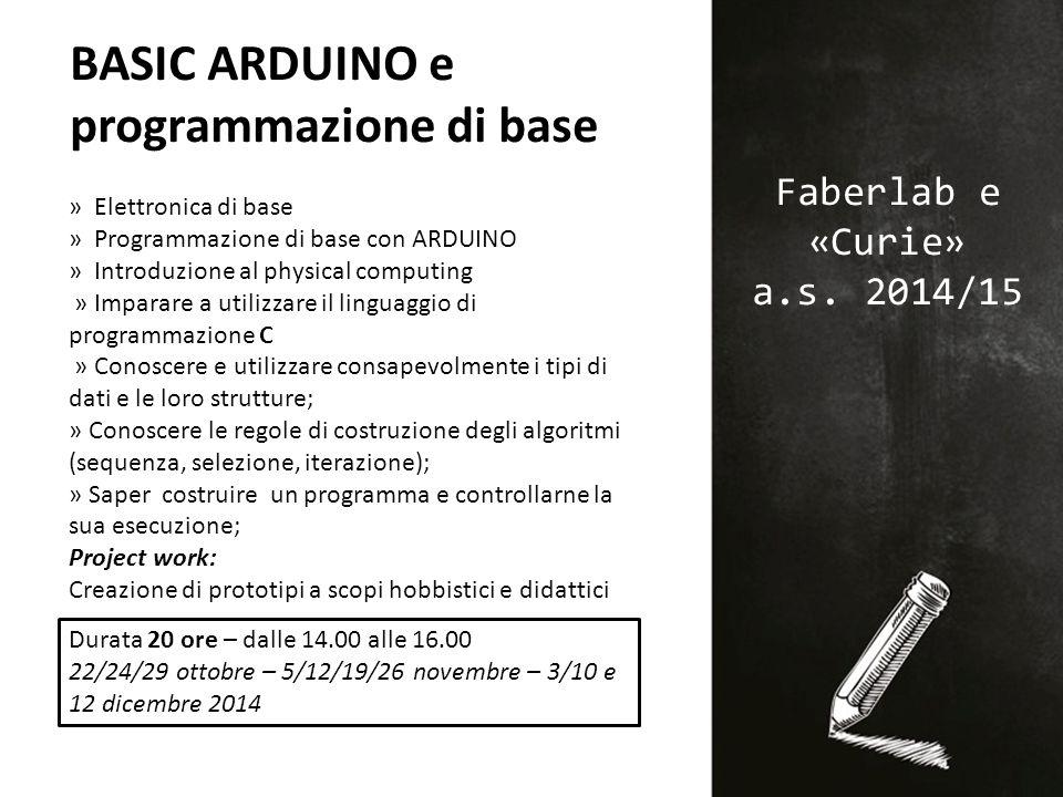 Faberlab e «Curie» a.s.