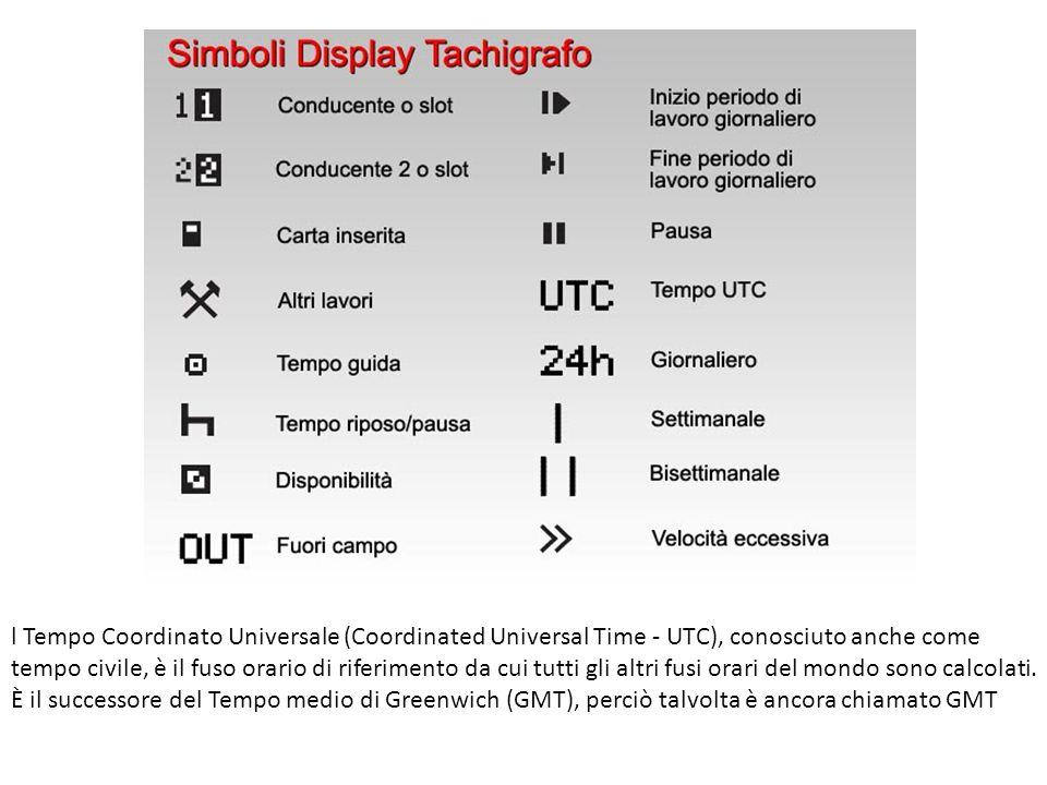 l Tempo Coordinato Universale (Coordinated Universal Time - UTC), conosciuto anche come tempo civile, è il fuso orario di riferimento da cui tutti gli