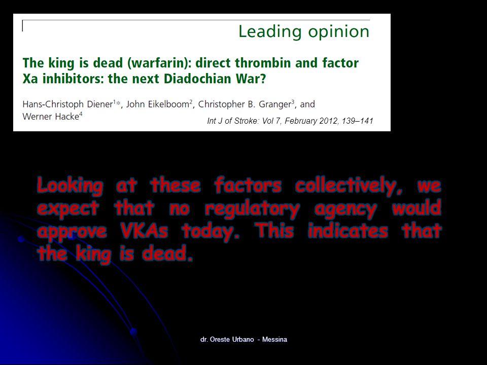 dr. Oreste Urbano - Messina Int J of Stroke: Vol 7, February 2012, 139–141