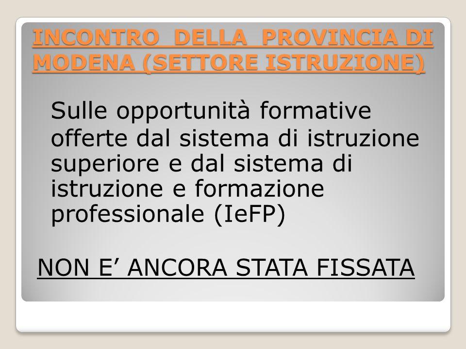 SISTEMA DI IeFP in Emilia Romagna L.R. n.