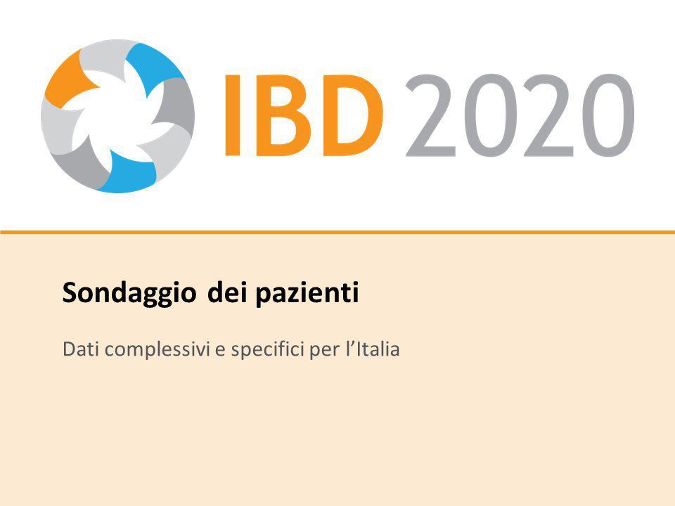 Sondaggio dei pazienti Dati complessivi e specifici per l'Italia