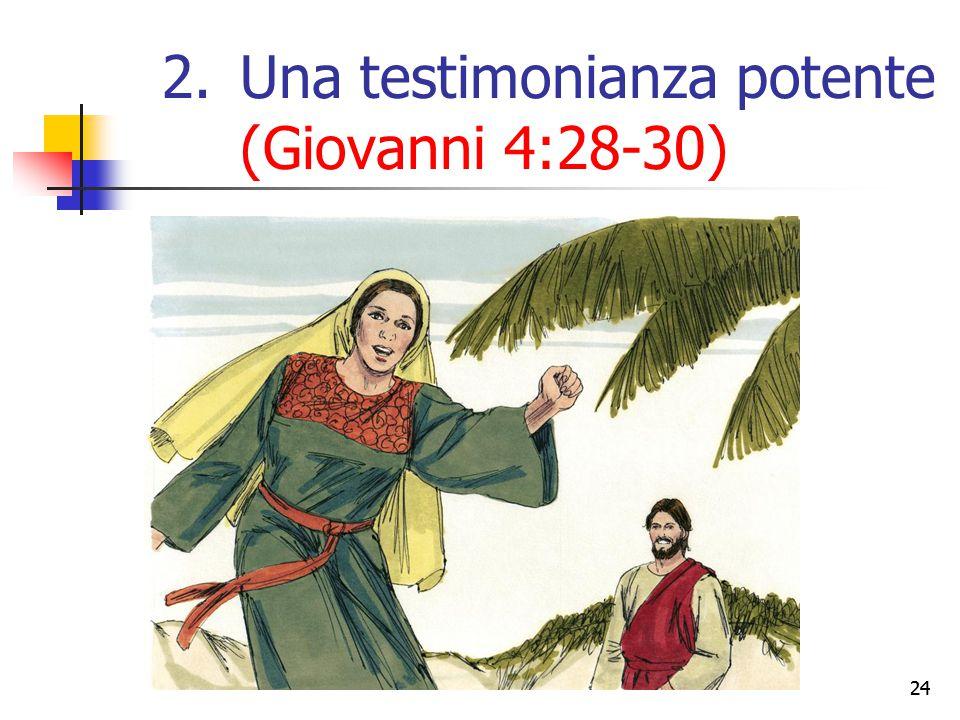 24 2.Una testimonianza potente (Giovanni 4:28-30)
