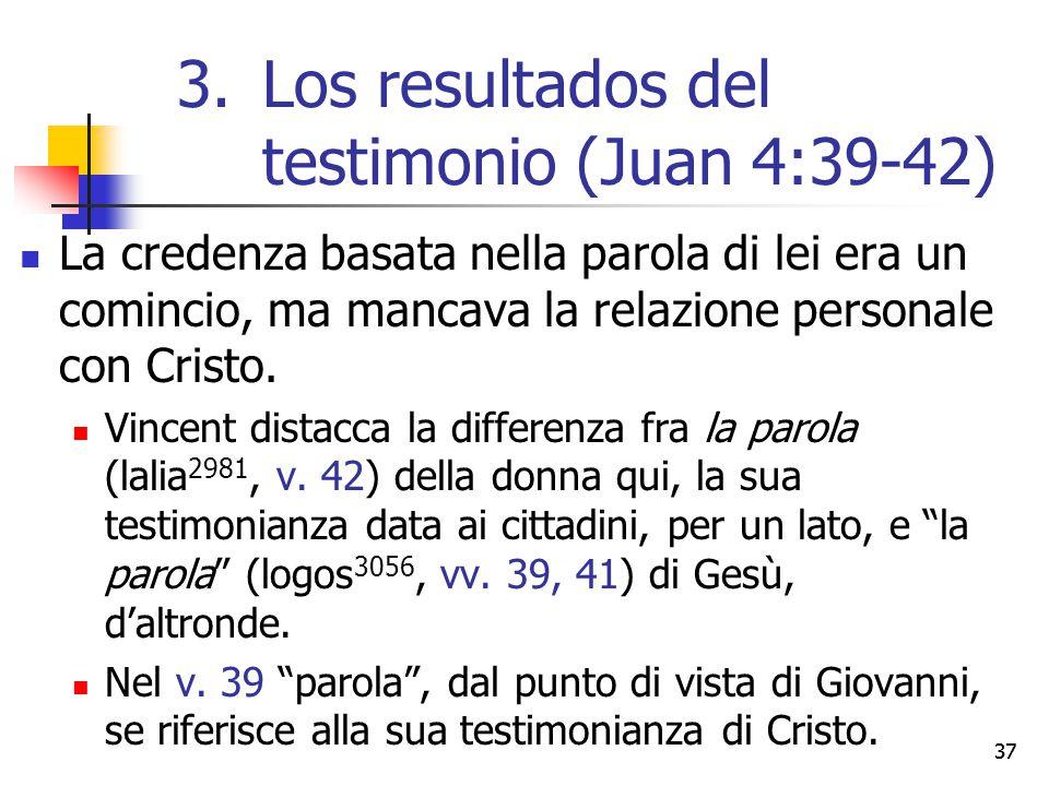 La credenza basata nella parola di lei era un comincio, ma mancava la relazione personale con Cristo. Vincent distacca la differenza fra la parola (la